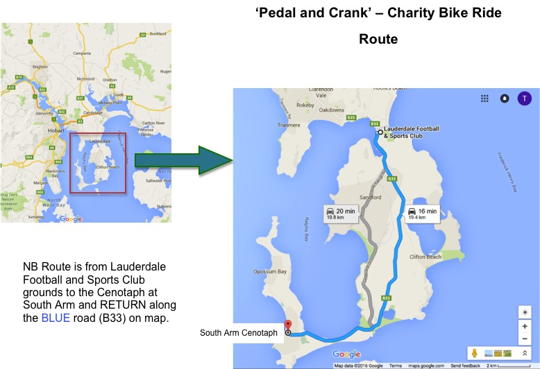 Bike ride route map